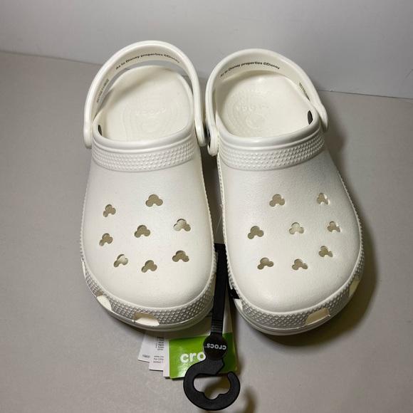 CROCS Shoes | Disney Parks White Mickey